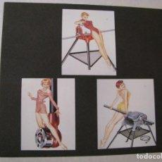 Coleccionismo de carteles: PIN UP GIRL. 3 IMÁGENES RECORTADAS DE LA REVISTA, PEGADA SOBRE UNA CARTULINA. DE GEORGE PETTY.. Lote 131377774