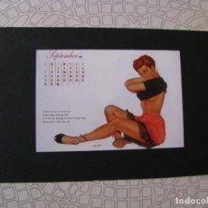 Coleccionismo de carteles: PIN UP GIRL. IMÁGEN RECORTADA DE LA REVISTA, PEGADA SOBRE UN CARTON DURO. AUTOR EDDIE CHAN.. Lote 131378158