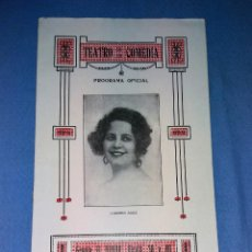 Coleccionismo de carteles: TEATRO DE LA COMEDIA PROGRAMA OFICIAL ORIGINAL AÑO 1923 EN MUY BUEN ESTADO VER DESCRIPCION. Lote 131943254