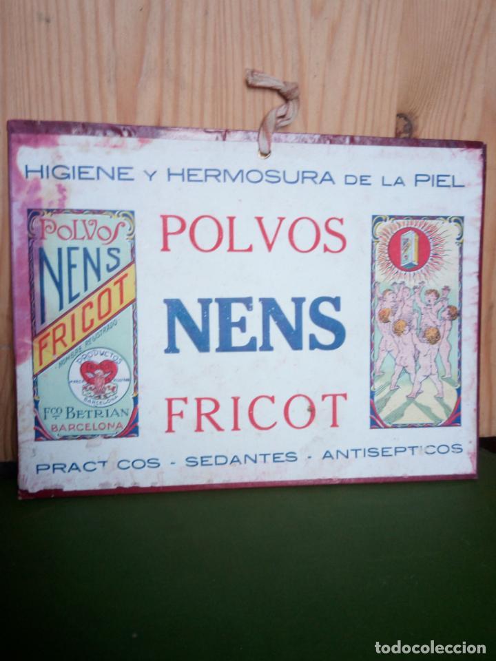 POLVOS NENS FRICOT - CARTEL CARTON (Coleccionismo - Carteles Pequeño Formato)