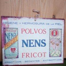 Coleccionismo de carteles: POLVOS NENS FRICOT - CARTEL CARTON. Lote 133056030