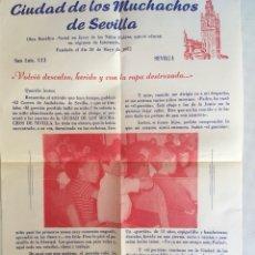 Coleccionismo de carteles: FOLLETO CIUDAD DE LOS MUCHACHOS. Lote 133557987