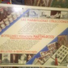 Coleccionismo de carteles: CARTEL DE CARTÓN DE BOTELLINES VERMOUTH MARTINI&ROSSI.. Lote 133610041