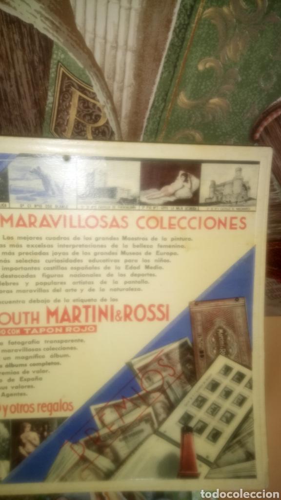 Coleccionismo de carteles: CARTEL DE CARTÓN DE BOTELLINES VERMOUTH MARTINI&ROSSI. - Foto 3 - 133610041