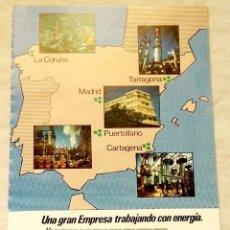 Coleccionismo de carteles: ANTIGUA PUBLICIDAD DE EMP, EMPRESA NACIONAL DEL PETRÓLEO - 19,5X13CM. - EXTRAÍDO DE REVISTA. Lote 134040254