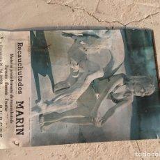 Coleccionismo de carteles: CARTEL PAPEL RECAUCHUTADOS MARIN. Lote 134058087