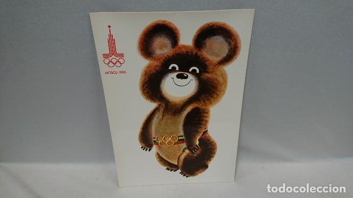 CARTEL MISHA MASCOTA DE LOS JUEGOS OLÍMPICOS DE MOSCÚ AÑO 1980 (Coleccionismo - Carteles Pequeño Formato)