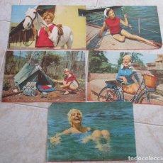 Coleccionismo de carteles: 5 CARTELES TAMAÑO DINA 4 - MODELOS AÑOS 60. Lote 134097758