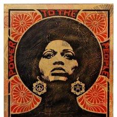 Colecionismo de cartazes: POWER. TO THE PEOPLE. POWER AND EQUALITY LÁMINA CARTEL. 45 X 32 CMS.. Lote 153913524