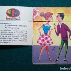 Collectionnisme d'affiches: TRIPTICO PROPAGANDA TEJIDOS INDANTHREN. Lote 134435386
