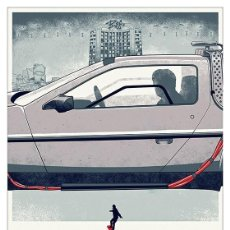 Collectionnisme d'affiches: REGRESO AL FUTURO COCHE PARTE CENTRAL BACK TO THE FUTURE. LÁMINA CARTEL. 45 X 32 CMS.. Lote 232390210