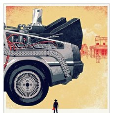 Collectionnisme d'affiches: REGRESO AL FUTURO COCHE PARTE TRASERA BACK TO THE FUTURE. LÁMINA CARTEL. 45 X 32 CMS.. Lote 232390225