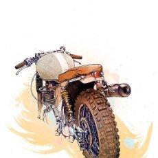 Coleccionismo de carteles: DIBUJO MOTOCICLETA. MOTO. LÁMINA CARTEL. 45 X 32 CMS. MOTORISMO. Lote 134841670