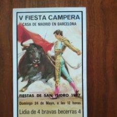 Coleccionismo de carteles: FLYER FOLLETO PUBLICITARIO ANUNCIO SOBRE TOROS LIDIA. Lote 172186402