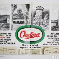 Coleccionismo de carteles: CARTEL / PÓSTER PUBLICITARIO EN CATALÁN - GASEOSA ONDINA - AÑOS 60 - MEDIDAS 56 X 37,5 CM. Lote 135106126