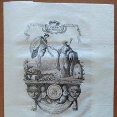 Coleccionismo de carteles: LITOGRAFIA MARCA DE FABRICA PAPEL SUPERIOR JOSE TIANA CAPELLADES CATALUÑA PRUEBA. Lote 135222794