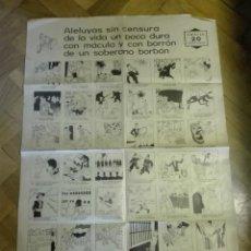 Coleccionismo de carteles: ALELUYAS SIN CENSURA DE LA VIDA UN POCO DURA …DE UN SOBERANO BORBÓN. REPÚBLICA 1931.. Lote 135296106