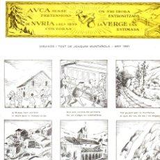 Coleccionismo de carteles: AUCA ALELUYAS VERGE DE NÚRIA - DIBUIXOS I TEXT DE JOAQUIM MUNTAÑOLA (1962). Lote 135310678