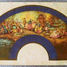 Coleccionismo de carteles: CARTEL PARA HACER ABANICO - JUGLARES EN EL CAMPO. AÑOS 40. Lote 135423238