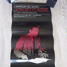 Coleccionismo de carteles: JOHN CAGE ANARQUIA DEL SILENCI CARTEL EXPOSICIÓN MACBA 2009. Lote 136243925