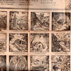 Coleccionismo de carteles: AUCA GUIA DE NURIA 41X64 CM. . Lote 136250442