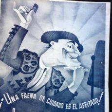 Coleccionismo de carteles: HOJA DE PUBLICIDAD EN PRENSA DE HOJAS DE AFEITAR IBERIA (TOROS). Lote 136389338