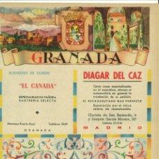 Coleccionismo de carteles: CARTEL PUBLICITARIO GRANADA.. Lote 137106038