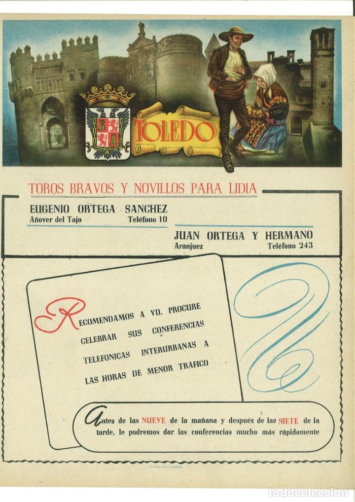CARTEL PUBLICITARIO TOLEDO (Coleccionismo - Carteles Pequeño Formato)