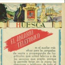 Coleccionismo de carteles: CARTEL PUBLICITARIO HUESCA. Lote 137107394