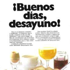 Coleccionismo de carteles: 1987 HOJA REVISTA PUBLICIDAD ANUNCIO DESAYUNOS NESTLÉ. Lote 137340674