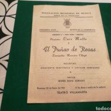 Coleccionismo de carteles: PROGRAMA TEATRO VILLAMARTA DE JEREZ. LA DEL PUÑADO DE ROSAS. 1961. Lote 137562194