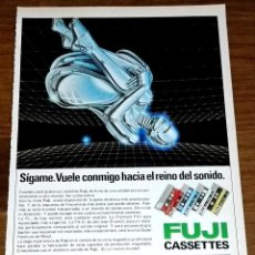 Coleccionismo de carteles: ANTIGUA PUBLICIDAD FUJI CASSETTES - 19X13,5CM. - EXTRAÍDO DE REVISTA 1981. Lote 138168902