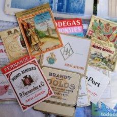 Coleccionismo de carteles: ETIQUETAS VINO FINO NUEVAS TAL FOTO LOTE 20. Lote 139686089
