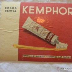 Coleccionismo de carteles: CARTEL PUBLICITARIO CON PIE KEMPHOR. Lote 140472318