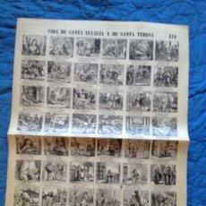 Collectionnisme d'affiches: VIDA DE SANTA EULALIA Y DE SANTA TERESA-111. Lote 141679586