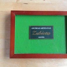 Coleccionismo de carteles: PUBLICIDAD ENMARCADA ZUBIETA SANTOÑA. Lote 141814750