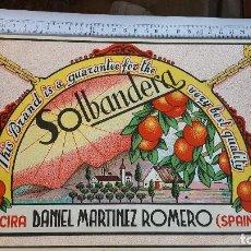 Coleccionismo de carteles: PRECIOSO LOTE DE 28 ETIQUETAS DIFERENTES DE NARANJA. Lote 142355618