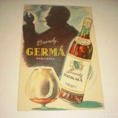 Coleccionismo de carteles: BRANDY GERMÁ, SABADELL. 16 X 10 CM.. Lote 143074306