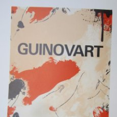 Coleccionismo de carteles: CARTEL JOSEP GUINOVART, 1983, GENERALITAT DE CATALUNYA. 35X50CM. Lote 143264442