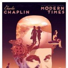 Collectionnisme d'affiches: CHARLIE CHAPLIN. CHARLOT. MODERN TIMES. TIEMPOS MODERNOS. LÁMINA CARTEL POSTER. 45 X 32 CMS.. Lote 269218623
