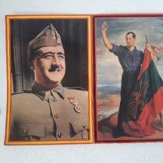 Colecionismo de cartazes: FRANCISCO FRANCO , JOSE ANTONIO PRIMO DE RIVERA , DIVISION AZUL. Lote 144030610