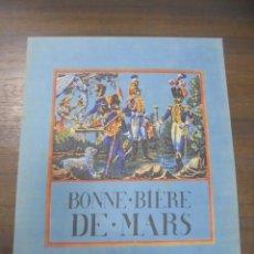 Coleccionismo de carteles: CARTEL PUBLICITARIO DE CERVEZA . BONNE. BÍÉRE DE MARS.. Lote 144191834