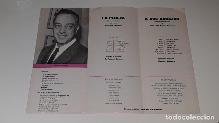 Coleccionismo de carteles: ANTIGUO PROGRAMA DE TEATRO COMPAÑIA DE COMEDIAS JOSE MARIN RODERO - LA PEREZA - ALICANTE AÑO 1971 - Foto 4 - 144923858