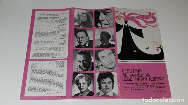 Coleccionismo de carteles: ANTIGUO PROGRAMA DE TEATRO COMPAÑIA DE COMEDIAS JOSE MARIN RODERO - LA PEREZA - ALICANTE AÑO 1971 - Foto 8 - 144923858