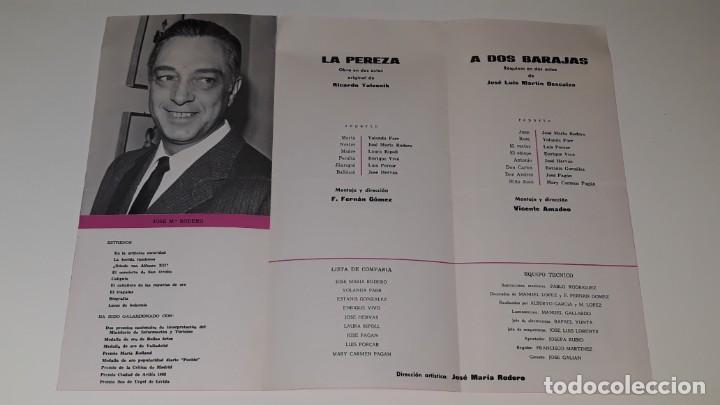 Coleccionismo de carteles: ANTIGUO PROGRAMA COMPAÑIA DE COMEDIAS JOSE MARIN RODERO - LA PEREZA - A DOS BARAJAS ALICANTE 1971 - Foto 3 - 144925654