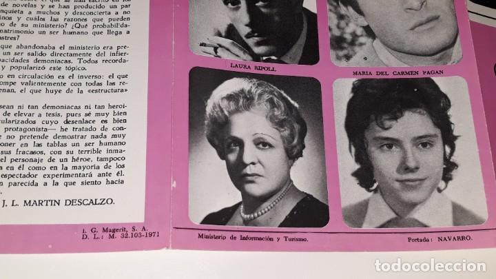 Coleccionismo de carteles: ANTIGUO PROGRAMA COMPAÑIA DE COMEDIAS JOSE MARIN RODERO - LA PEREZA - A DOS BARAJAS ALICANTE 1971 - Foto 5 - 144925654