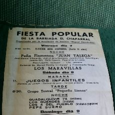Coleccionismo de carteles: CARTEL FESTIVAL FLAMENCO FIESTA POPULAR. Lote 145395688