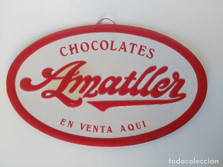 ANTIGUO CARTEL CHOCOLATES AMATLLER (Coleccionismo - Carteles Pequeño Formato)