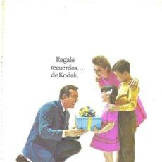 Collezionismo di affissi: PUBLICIDAD 1968 HOJAS REVISTA ANUNCIOS KODAK CÁMARAS FOTOGRÁFICAS Y DE CINE INSTAMÁTIC. Lote 146345694