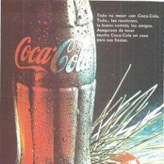 Coleccionismo de carteles: PUBLICIDAD 1968 HOJA REVISTA ANUNCIO COCA-COLA. Lote 146347358